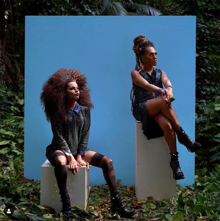 Assucena Assucena e Raquel Virginia no ensaio do álbum Bixa - Foto Gui Paganini