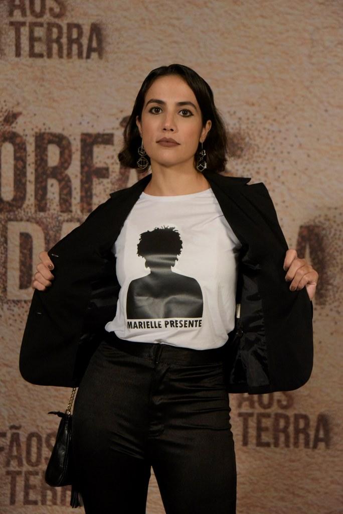 Gabi Costa durante a coletiva da novela 'Órfãos da Terra'. Atriz interpreta Nazira, uma mulher síria que não se deixa abater pela guerra. Foto Selmy Yassuda - TV Globo