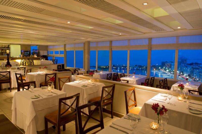 O restaurante Skylab do Rio Othon Palace tem a vista mais incrível do infinito Oceano Atlântico
