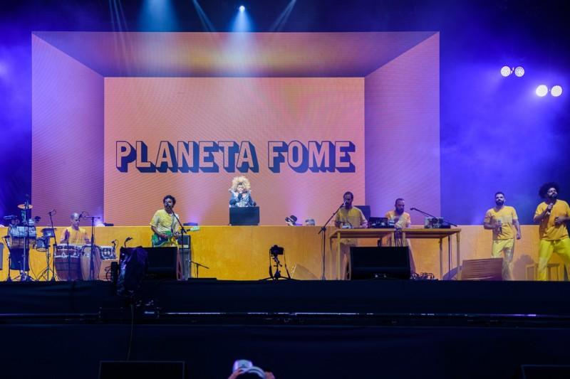 Elza Soares lançou oficialmente 'Planeta Fome', no palco Sunset, do Rock In Rio (Foto: divulgação)