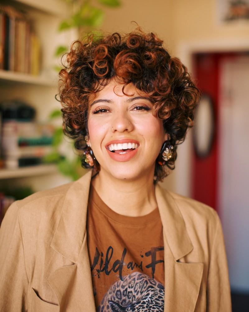 Carla Lemos do blog Modices questiona os padrões da moda em 'Use a moda a seu favor' (Foto: Vitor Fernandes)